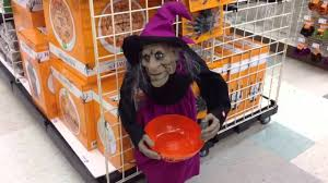 Michaels Crafts Halloween by Michaels Halloween 2013 Animated Talking Candy Bowl Witch Youtube
