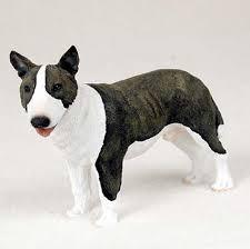 bull terrier painted figurine statue brindle