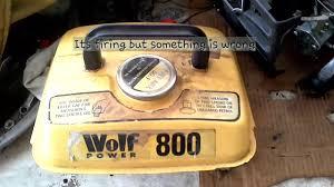 wolf 800 generator repair youtube