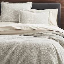 brice natural patterned duvet covers and pillow shams crate and