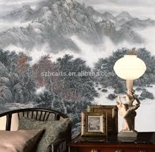 buy chinese painting stickers from trusted chinese painting traditional wall sticker roll mountain landscape painting wall mural chinese for interior decoration