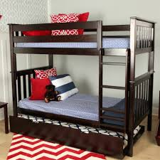 Bunk Bed With Trundle Bed Max Espresso Bunk Bed Trundle Solid Wood