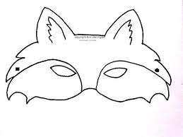 free printable fox mask how to draw u0026 paint a piece of animal