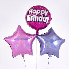 happy birthday balloon pink happy birthday balloon bouquet inflated free delivery