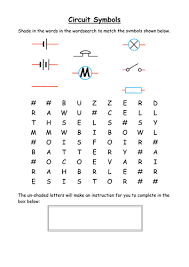 electric circuit components wordsearch by cathb1975 teaching