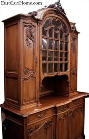 antique french buffet 1880 carved with birds fish and the