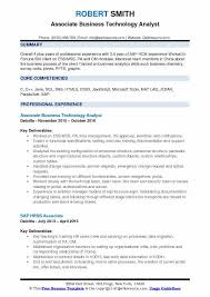 Sap Hr Resume 3 Years Business Technology Analyst Resume Samples Qwikresume