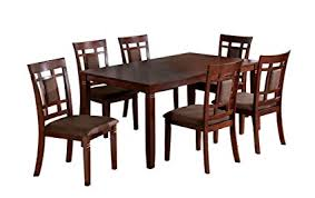 cheap 7 piece dining table sets amazon com furniture of america cartiere 7 piece dining table set