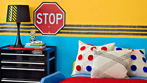 Kids Room Borders by Tire Track Painted Border