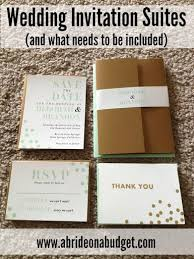 wedding invitations on a budget wedding invitation suites and what needs to be included in your
