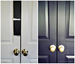 Paint Interior Doors by Black Doors U0026 White Tassel Tiebacks Hung On Black Doors U0026