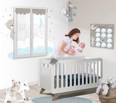 cadre ourson chambre bébé chambre bébé garçon complète bleu et taupe avec nuages et pê