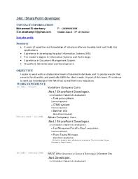 sharepoint resume awesome to do sharepoint developer resume 8 business developer