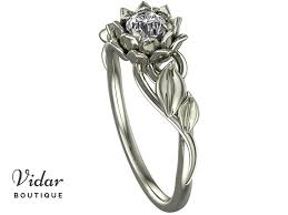 lotus flower engagement ring lotus flower engagement ring with leaves vidar boutique vidar