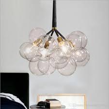 Glass Sphere Pendant Light Modern Stylish Magic Glass Ball Pendant Light Muti Heads E27 Led
