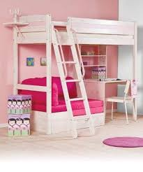 amazing loft beds for girls with desk girls desk pink and white