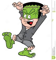 halloween frankenstein costume royalty free stock image image