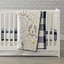 Gray And Yellow Crib Bedding Genevieve Gorder Shield Crib Bedding 3 Piece Set The Land Of Nod