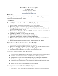 Veterinarian Resume Examples Erin Final Training Resume