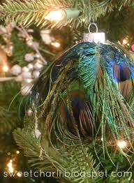 diy glass ornament feathers sweet charli