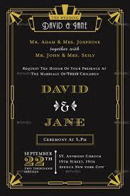 art deco wedding invitation by totemdesigns graphicriver