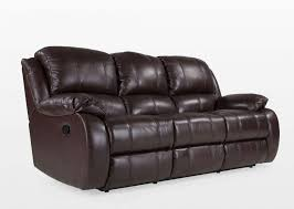 Leather 3 Seater Sofas Plush Brown Leather Recliner 3 Seater Sofa Eternity Ez Living