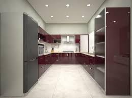 kitchen modern u shaped kitchen with island design with less