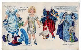 vintage kids printable fairy tale paper doll postcard the