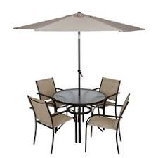 6 Piece Patio Set by Tropitone U0027s Kor Padded Sling Dining Chairs With La Stratta Dining