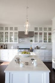 kitchens with glass cabinets stacked cabinets transitional kitchen r cartwright design