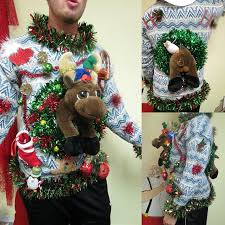 light up ugly christmas sweater dress 3 d reindeer tangled in garland light up ugly christmas ugly