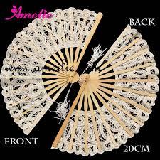 paper fans bulk 10pcs lot amelie wedding white or beige battenburg lace fan