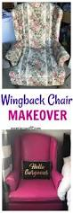trash to treasure wingback chair makeover mom insane fit