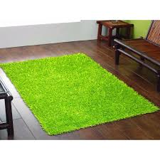 lime green rugs to create an artificial look blogalways