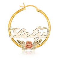 hoop earrings with name personalized hoop earrings oroking largest jewelry superstore