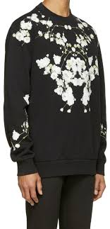 givenchy sweater givenchy baby s breath boyfriend floral oversized sweater