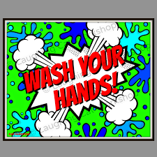 Bathroom Sets For Kids Wash Your Hands Kid Bathroom Art Comic Kid Superhero Print Funny