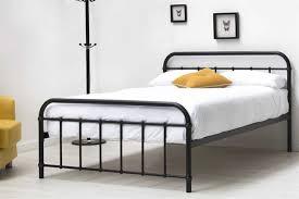 Metal Bed Frames Single Bed Frames Henley Hospital Style Black Metal Frame