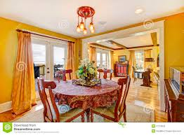 yellow dining rooms cozy yellow dining room stock photo image of image decor 37276852