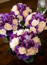 Violet Wedding Flowers - for the bridesmaids white lavender and purple wedding bouquets