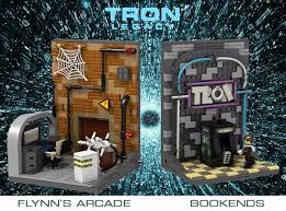 Arcade Room Ideas by Lego Ideas Tron Legacy Flynn S Arcade Bookends