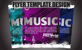 free vector flyer template design coolvectors com