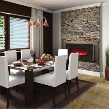amantii 58 inch wall mount electric fireplace black granite wm