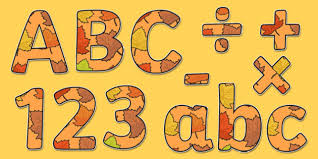 themed letters autumn themed display lettering autumn display lettering