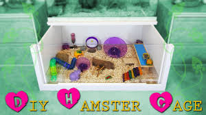 How To Build A Wooden Playset How To Build A Diy Hamster Cage Instructions Youtube