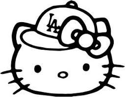 hello kitty baseball hello kitty la dodgers baseball cap decal
