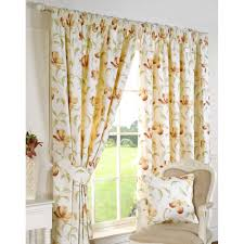 Terracotta Curtains Ready Made by Sundour Ascot Peach Floral Readymade Pencil Pleat Curtains