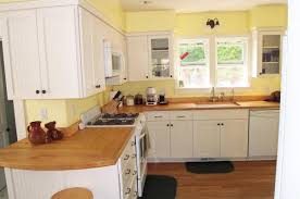 Full Wall Kitchen Cabinets by Extraordinary Yellow And White Painted Kitchen Cabinets