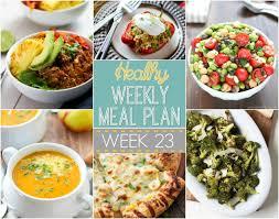 Dinner For The Week Ideas Healthy Weekly Meal Plan 23 Recipe Runner