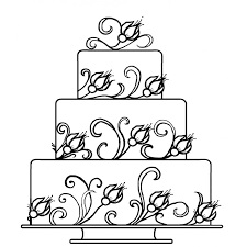 wedding cake drawing tiered wedding cake rubber st